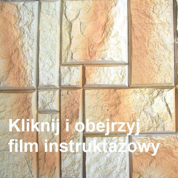 Bardzo prosty sposób na zamocowanie kamienia na ścianie w postaci filmu. Kamień z racji swojego kształtu, który uwidacznia się w postaci różnej wielkoćci prostokątów i kwadratów jest nie sprawia żadnych problemów podczas jego zamocowania na ścianie.