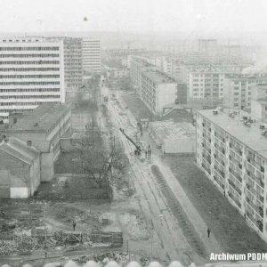 Ogólny widok zabudowy  ul. Polnej, 16 stycznia 1969 r.